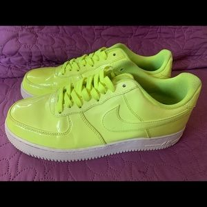 Neon air forces Nike's